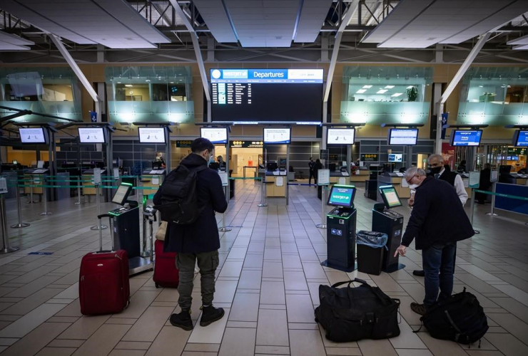 WestJet employee, Vancouver International Airport,
