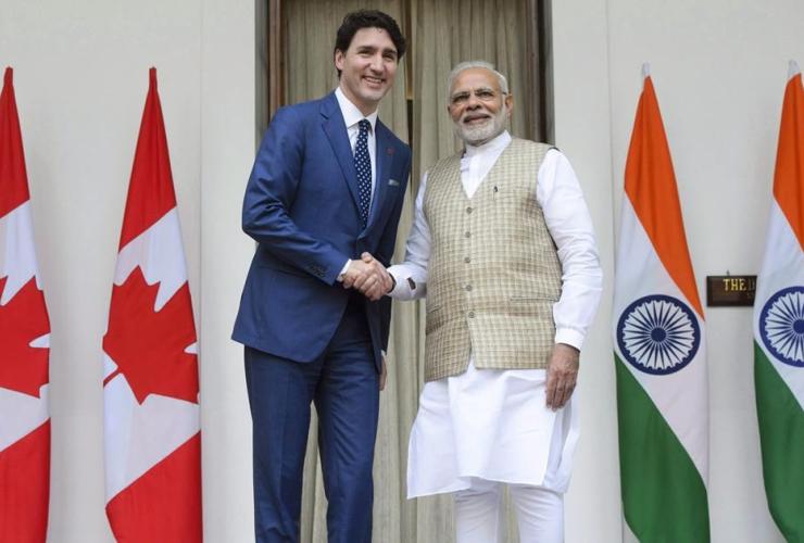 Justin Trudeau, Narendra Modi,
