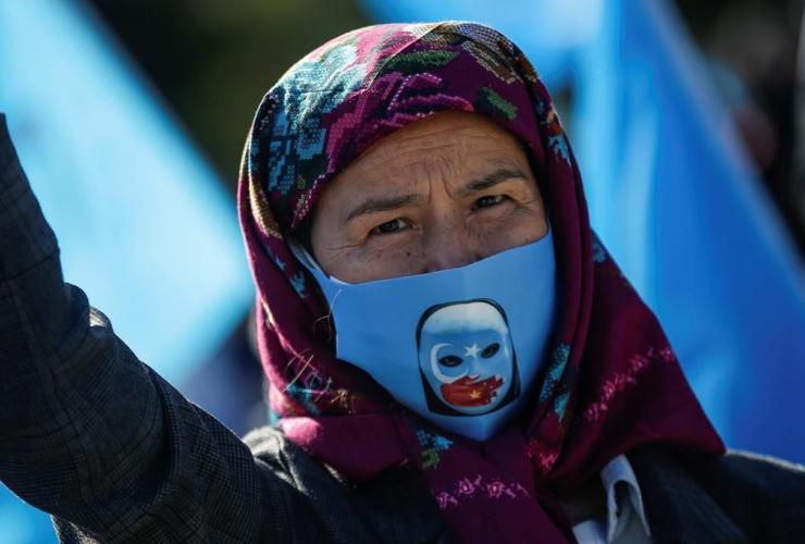 protester, Uighur community,