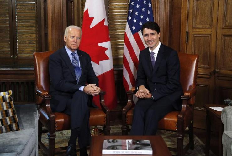 Justin Trudeau, Joe Biden,