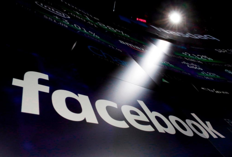 logo, Facebook, Nasdaq MarketSite,