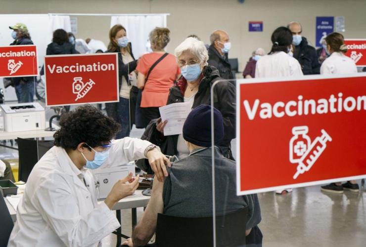 COVID-19 vaccine, Olympic Stadium,