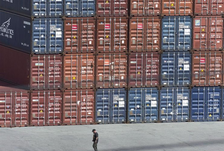 Shipping containers, Fairview Cove Container Terminal, Halifax,