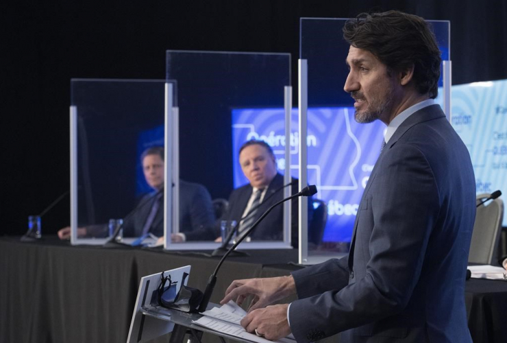 Justin Trudeau, Francois Legault,