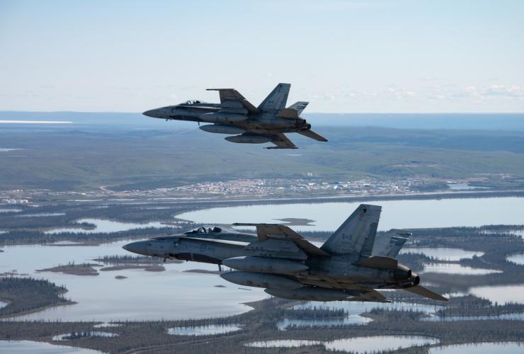 RCAF CF18 Hornet fighter jets