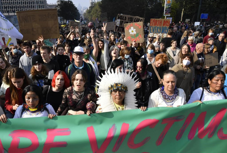Brussels weekend climate march draws thousands