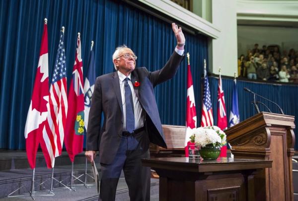 United States Senator Bernie Sanders, University of Toronto, Toronto,