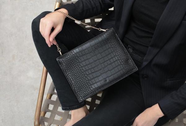 Ela Handbags, faux leather fabrics,
