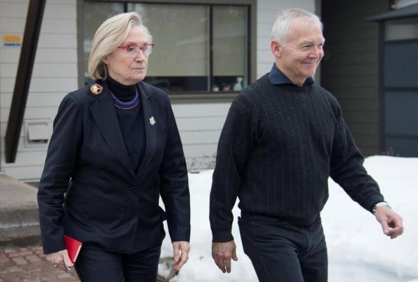Federal Minister of Crown-Indigenous Relations Carolyn Bennett, B.C. Indigenous Relations Minister Scott Fraser,