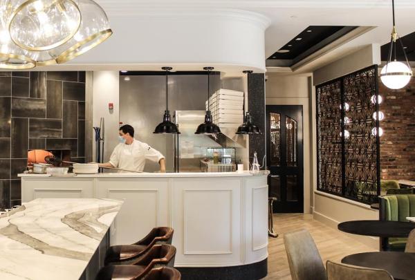 kitchen, Oak Bay Beach Hotel,