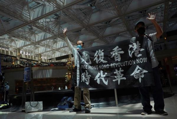 Protesters, Hong Kong,