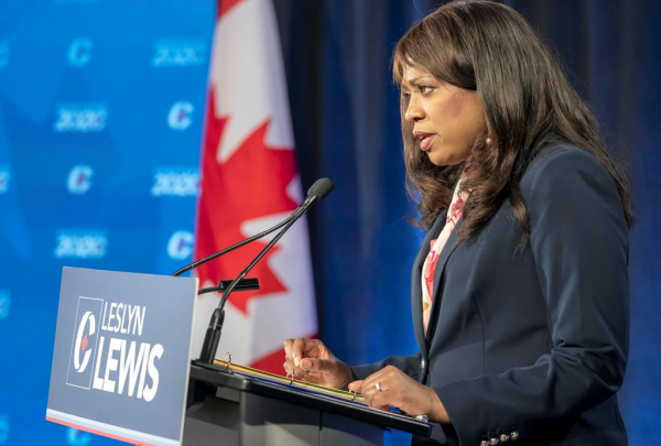 Conservative Party of Canada leadership candidate, Leslyn Lewis,