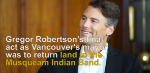 City of Vancouver returns land to Musqueam Indian Band