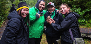 Swanson fish farm occupation by Indigenous activists Emilee Gilpin