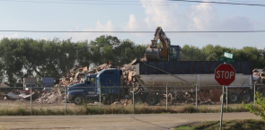 Debris Management Site (DMS) in Port Arthur on 19th Street