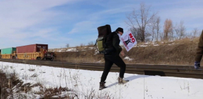 Wet'suwet'en supporters blockade CN Rail in Toronto
