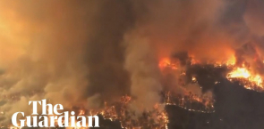 Aerial footage shows wildfires raging in the Australian state of Victoria