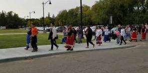 Tristen Durocher bagpipe procession to the Saskatchewan legislature: Canada's National Observer.