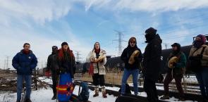CN Rail Blockade in Toronto - Women's Warrior Song